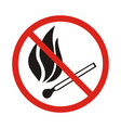 fire emergency icons no open vector image