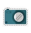 photo camera picture image cutting line vector image