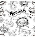 Seamless pattern comic speech bubbles vector image