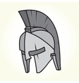 Sparta helmet isolated vector image