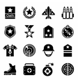 Military icon set vector image