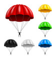 flying parachute isolated on white vector image