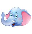 A blue elephant vector image vector image