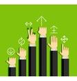Businessmans hands gestures vector image