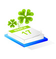 Saint Patrick's calendar vector image vector image