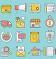 Set of business icons Flat line style - part 1 vector image vector image