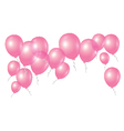 pink balloons on white background vector image