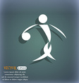 Summer sports basketball icon On the blue-green vector image