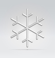 Wire snowflake vector