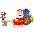 an of santa claus riding in his vector image