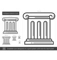 antique column line icon vector image