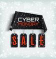 cyber monday sale winter design vector image