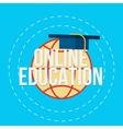 Flat for e-learning and online vector image