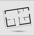 house plan simple flat icon on isolated background vector image