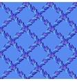 Seamless blue lattice peacock feather vector image