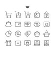 shopping pixel perfect well-crafted thin vector image