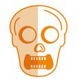 skull head avatar character vector image