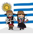 Welcome to Uruguay people vector image