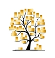 Golden tree concept for your design vector image vector image