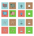 set of sun energy icons on color backgrounds vector image vector image