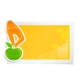 sticker with hand holding apple vector image vector image