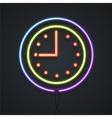 Neon Clock vector image vector image