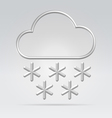 Wire weather snow vector