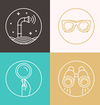 abstract in flat style - periscope vector image