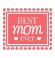 Best mom card icon cartoon style vector image