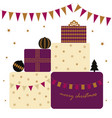 card with presents vector image