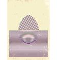 Egg poster 3D vector image