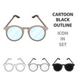 glasses for sightold age single icon in cartoon vector image