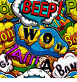 Multicolored comics speech bubbles vector image