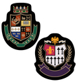 royal crown college badge vector image