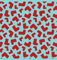 seamless background pattern with red socks vector image