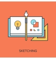 Sketching vector image