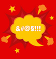 swear or curse word in bomb bubble anger concept vector image