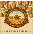 Vintage colorful apple harvest label vector image