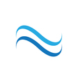 Water Wave Icon Logo Template vector image