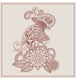 mehendi Henna rooster vector image vector image