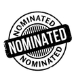 Nominated rubber stamp vector image