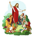 jesus preaches the gospel vector image vector image