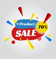 price tag for sale promotion vector image