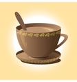 cup of coffee brown vector image vector image