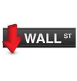 stock market fall vector image