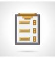 Checklist flat color icon vector image