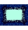 grungy snowflake frame vector image vector image