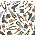 Tools and equipment seamless pattern vector image vector image