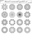 Geometric circular ornament set vector image
