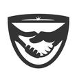 Business handshake logo vector image